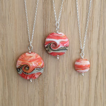 Load image into Gallery viewer, Seaside Sunset Lentil Pendants - choice of sizes