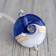 Load image into Gallery viewer, Blue Sky Lentil Pendant