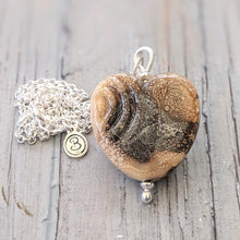 Load image into Gallery viewer, Spiral Heart Pendant