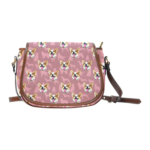 Pink Pastel Pups Saddle Bag