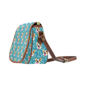Teal Dogs Saddle Bag - Gifts for Dog Lovers