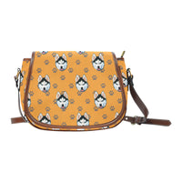 Brown Paws Prints Saddle Bag - Gifts for Dog Lovers