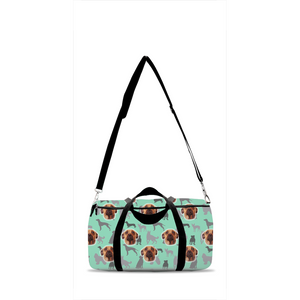 Aqua Pastel Pup Duffle Bag - Gifts for Dog Lovers