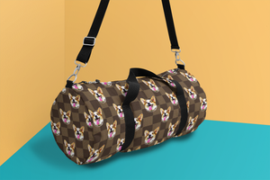 Brown Checkerboard Duffle Bag - Gifts for Dog Lovers