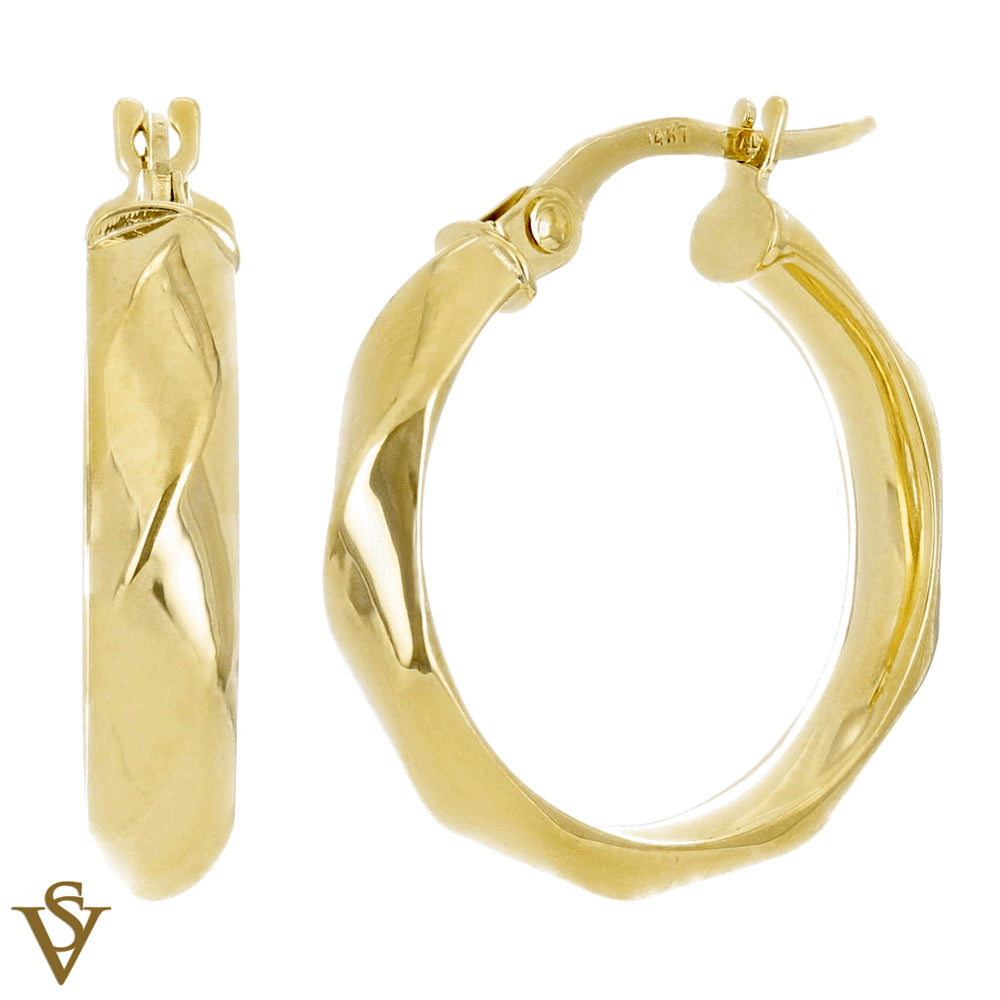 Christian Van Sant Italian 14k Yellow Gold Earrings - CVE9H93