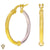 Christian Van Sant Italian 14k Yellow & White Gold Earrings - CVE9LRE