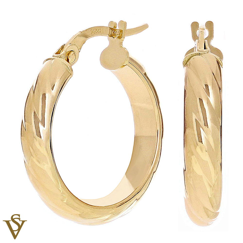 Christian Van Sant Italian 14k Yellow Gold Earrings - CVE9LSP