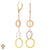 Christian Van Sant Italian 14k Tri-Color Gold Earrings - CVE9LSS
