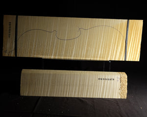 Violin back set (back, ribs, neck), #1000000020