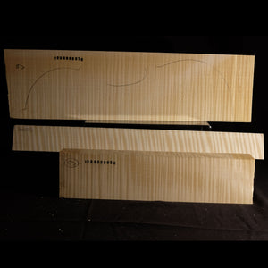 Violin back set (back, ribs, neck), #1000000050