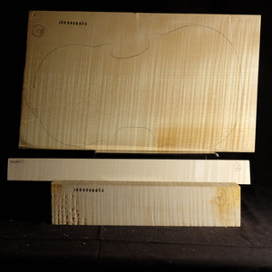 Violin back set (back, ribs, neck), #1000000053