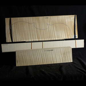 Violin back set (back, ribs, neck), #1000000069