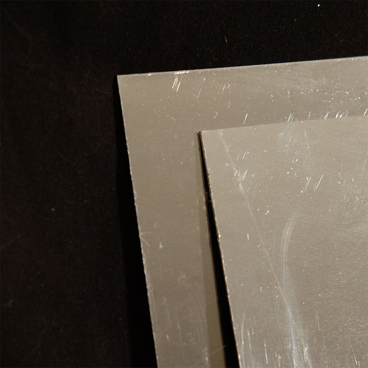 1 mm (0.04 in) Aluminum sheet