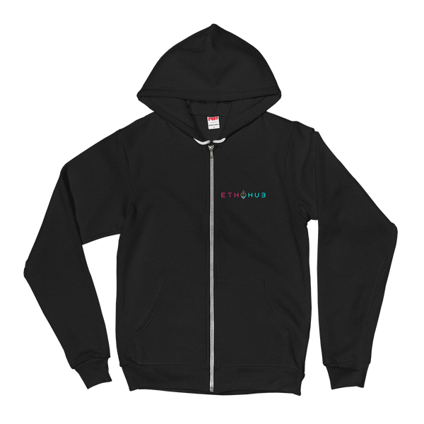EthHub Full Logo Small Zip Up Hoodie