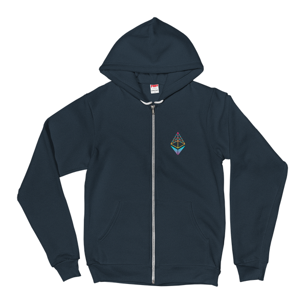 EthHub Small Logo Zip Up Hoodie