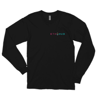 EthHub Full Logo Small Long Sleeve Shirt