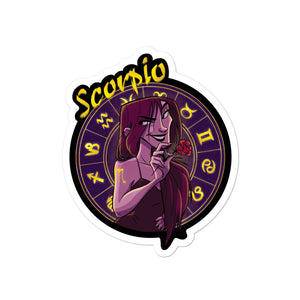 Zodiac Sign Scorpio Sticker