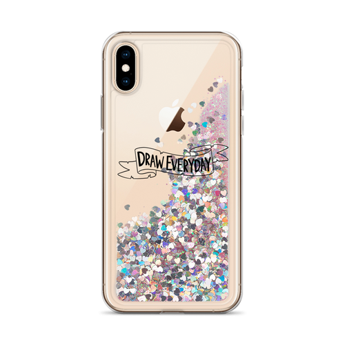 Draw Everyday Liquid Glitter Phone Case
