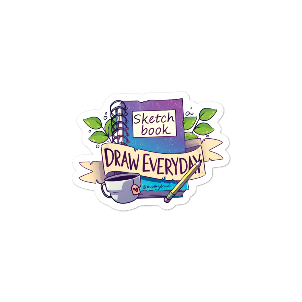 Sketchbook Draw Everyday Sticker