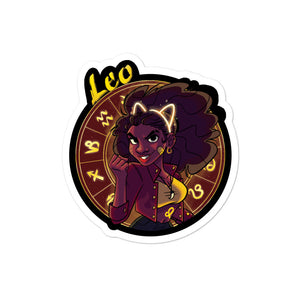 Zodiac Sign Leo Sticker