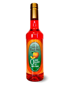 Sugar Free Peach Syrup Mix Savannah Flavoring Company