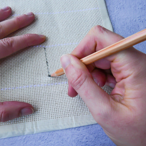 Drawing a straight line on monks cloth