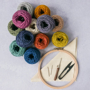 Cotton punch needle yarn