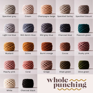 punch needle wool yarn