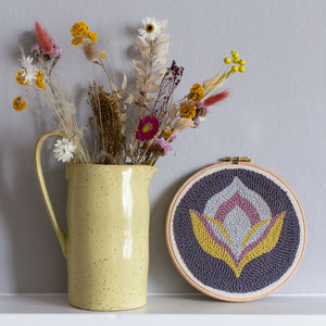 Floral punch needle kit for beginners