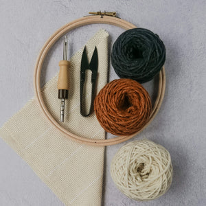 Abstract punch needle kit for beginners