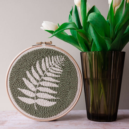 fern beginner punch needle kit