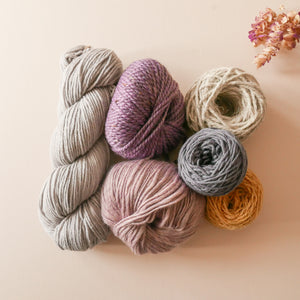 Muted lilac yarn pack