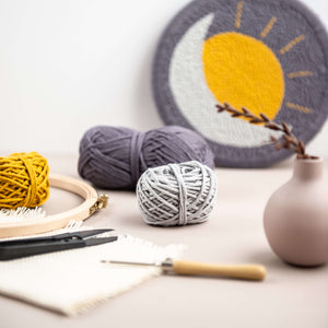 Celestial punch needle kit for beginners