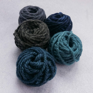 Cool toned 100% rug wool yarn