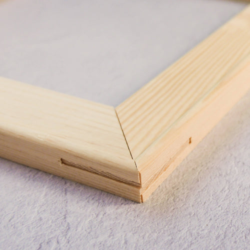 Wooden frame for punch needle