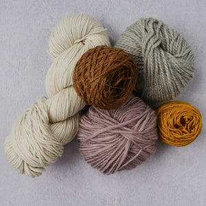 Yarn punch needle sample pack