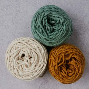 Cotton yarn for punch needle
