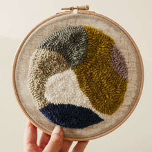 Load image into Gallery viewer, Punch needle hoop using weavers cloth punch needle fabric