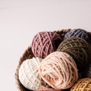 Punch needle wool rug yarn