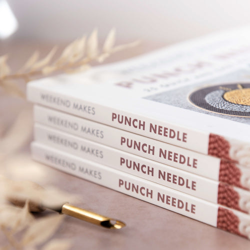 Stack of Weekend Makes: Punch Needle books