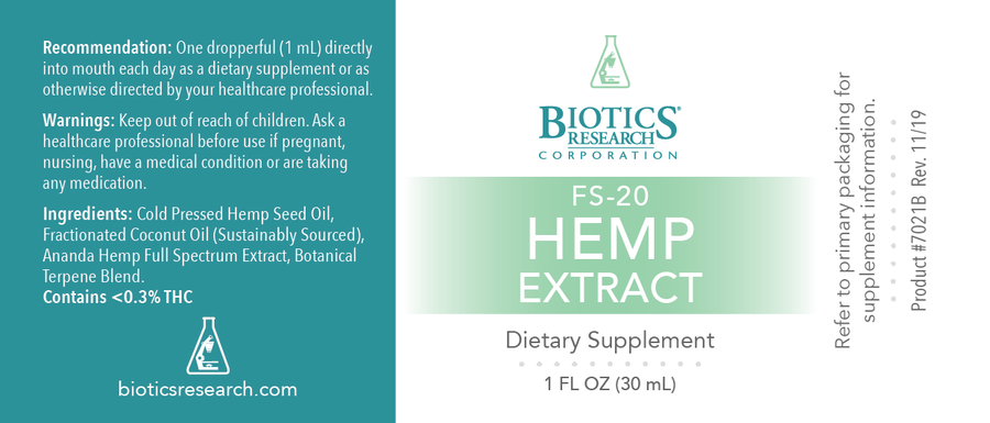 FS-20 Hemp Extract (Liquid)