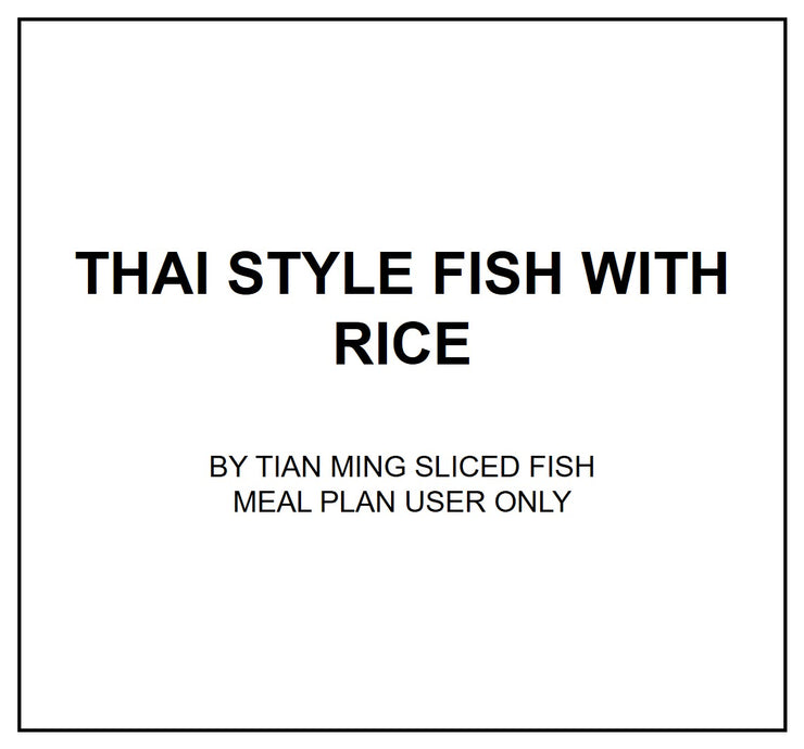 Wed, Sep 11 - Thai Style Fish With Rice - Living Menu