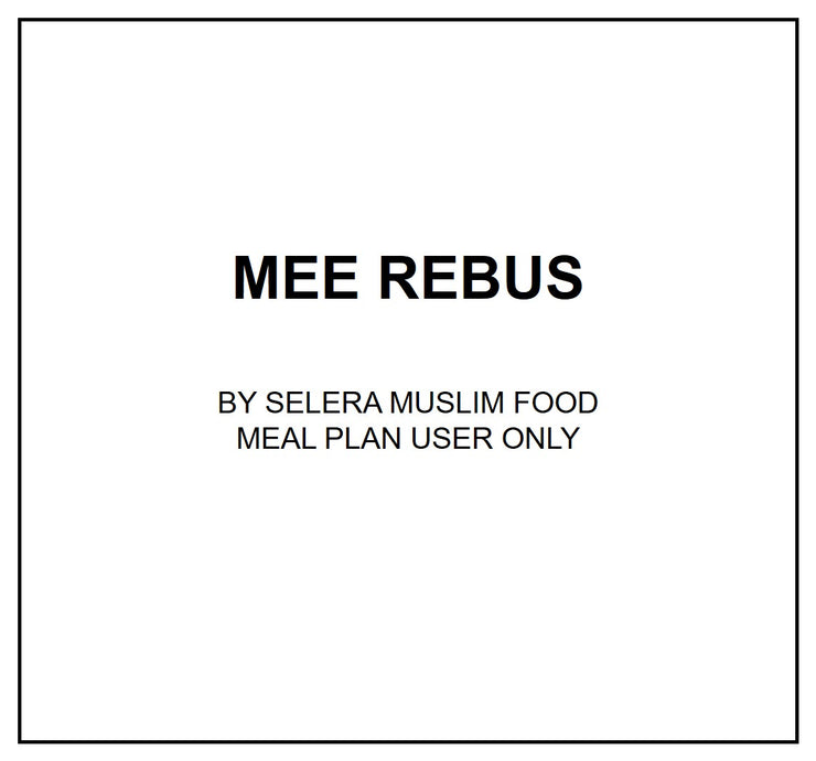 Fri, Oct 4 - Mee Rebus - Living Menu