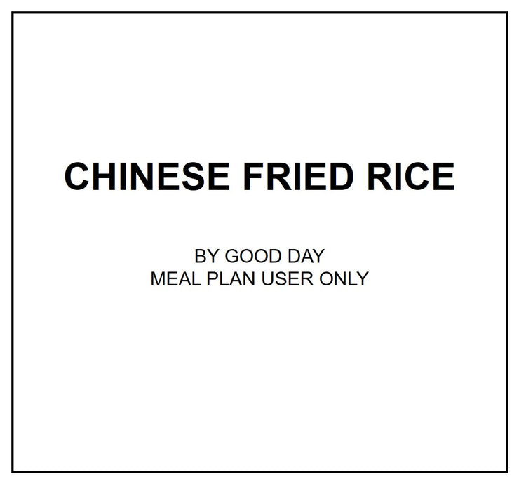 Mon, Sep 30 - Chinese Fried Rice