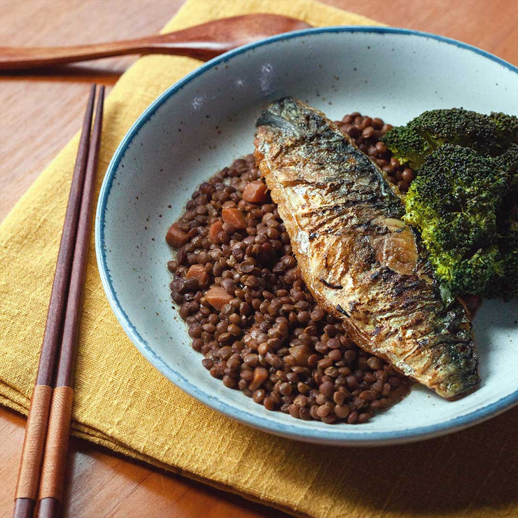 Thu, Apr 2 - Lentil Stew With Pan Seared Mackerel