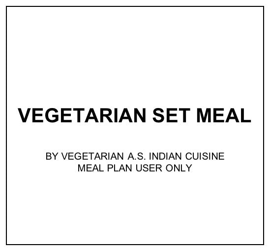 Mon, Oct 21 - Vegetarian Set Meal - Living Menu