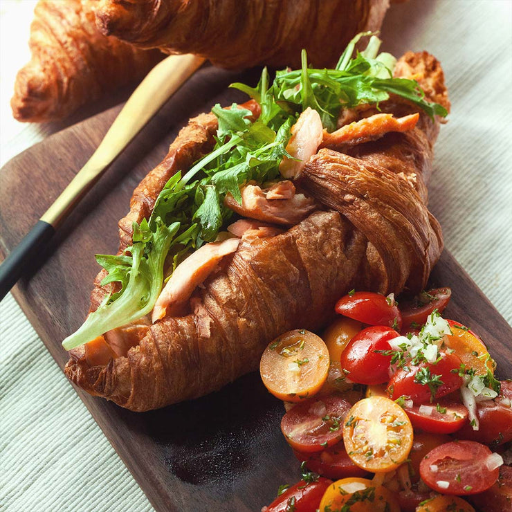 Mon, Jan 6 - Salmon Croissant With Tomato Salad - Living Menu