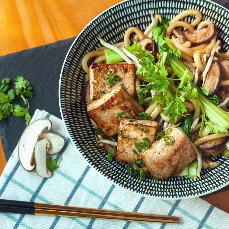 Wed, Mar 18 - Stir-Fried Udon With Grilled Tofu (Vegan) - Living Menu