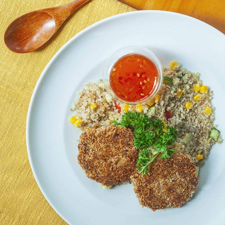 Thu, Nov 21 - Crab Cake With Quinoa - Living Menu