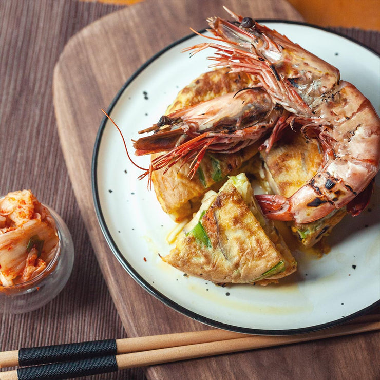 Tue, Mar 17 - Korean Pancake With Grilled Prawns - Living Menu